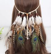 Feather Headband, Boho Women Headdress for Masquerade Party Fancy Dress Headpieces