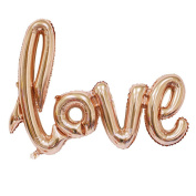 Love Balloon Banner 110cm Handwriting Letter Giant Celebration Balloon Romantic Wedding Bridal Shower Anniversary Engagement Party Decoration