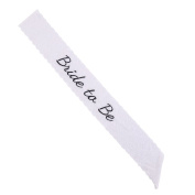 CCINEE White Lace Hen Party Sash Bride to Be Sash