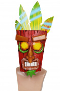 Aku Aku Mask Deluxe Resin Colourful Mask Cosplay Costume Merchandise for Halloween Fancy Dress Accessories