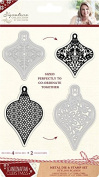 Sara Signature Collection Scandinavian Christmas Die & Stamp - Stylish Scandi, Silver