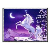 Unicorn 3Dwall sticker diamond mosaic cross stitch needlework embroidery