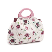 S & W Collection HGGB277 | Gathered Knitting Bag | Rosewater | 14 x 34 x 43cm