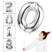 Takefuns 100cm Silver balloons Floating Alphabet A Balloon Birthday Party Decorations Helium Foil Mylar Letter Number Balloons