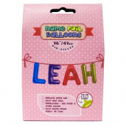 "Name Foil Balloons 16""/41cm Air Filled 'Leah'"