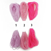 Hot Pink Dusty Pink Baby Pink Cross Stitch Cotton Embroidery Thread Sewing Skeins Floss By Accessories Attic®