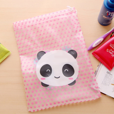 Portable Makeup Cosmetic Bags Women Girls Toiletry Travel Wash Toothbrush Pouch Organizer Bags Panda Pattern