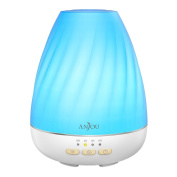 Anjou Ultrasonic 200mL Aroma Diffuser with Mist Control Essential Oil Diffuser for 12H Use