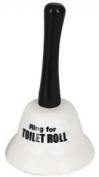 White Classic Hand Bell Ring For TOILET ROLL Loo Tissue Joke Gift Novelty Fun