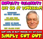 DIY - Do It Yourself Face Mask - Hugh Hefner Celebrity Face Mask