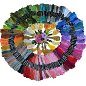 Jooks 50 Pcs Multi-colour Skeins Polyester Cotton Embroidery Thread Cross Stitch Sewing Thread