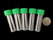 5ml plastic test tubes vials sample containers powder craft with green screw caps