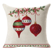 Cushion Cover, Keepwin Christmas Pillowcase Covers Decorative Cotton Linen Pillow Case Covers for Party Sofa Bedroom