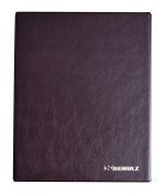 SCHULZ Banknotes Album Folder Book Notes Banknote with 10 Pages and 10 Dividers - The Best Quality - BROWN