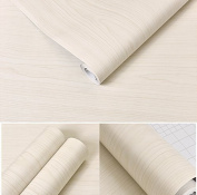 White Maple Wood Contact Paper Vinyl Self Adhesive Shelf Drawer Liner for Kitchen Cabinets Shelves Table Desk Dresser Furniture Arts and Crafts Decal 60cm by 4.9m