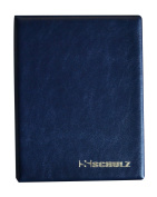 SCHULZ Coin Album for 120 MEDIUM sizes coins - best for 50p 50 pence £1 £2 €1 €2 - 10 pages - DARK BLUE