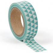 Green geo washi tape