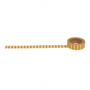 Gold thick stripe washi tape