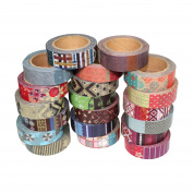 Washi Sticky Tape Paper For Creative Projects - Assorted 10m