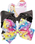 JoJo Bows Rainbow UNICORN Limited Edition - JoJo Siwa Girls Bows Hair Accesories -Shimmery or Rhinestone detail- Best Christmas Present -Great Stocking Filler
