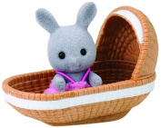 Sylvanian Families 4558 Rabbit Baby Toy with Crib