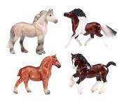 Breyer Stablemates British Ponies and Draught Set