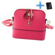 Handbag, New Women Messenger Bags Vintage Small Shell Leather Handbag Casual Bag