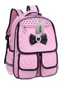 Puretime Girls Cute Pu Leather School Backpack Satchel Waterproof Travel Bag for Teenage Girls Princess Style