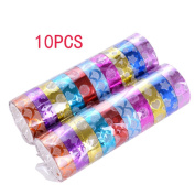 Gespout 10x Decorative Tape Ribbon Rolls Adhesive Tape DIY Sticky Masking Tap Star Floral Pattern for Scrapbooking Special Occasion Decoration, 15 mm x3 m