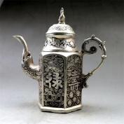 PENG Antique bronze antique large jugs retro white copper do old Fu Lu Shou
