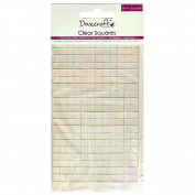 Dovecraft 3D Double Sided Adhesive Clear Squares - 6mm squares