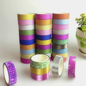 Philna12 DIY Craft Decor Colourful Glitter Sticky Paper Masking Adhesive Tape Label