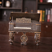 SU@DA Retro Nostalgic Piano Money Tank Bar Restaurant Home Resin Decorative Crafts Gift 20 * 13 * 19cm , 20*13*19cm