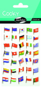"Maildor Cooky ""Flags"" Stickers, Multi-Colour"