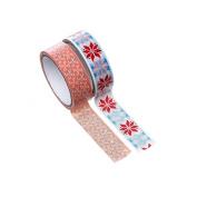 2 Rolls of Masking Tape 15 mm creafirm Multi-Coloured Flakes