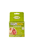 U-Craft 10mm Craft Glue Adhesive Double Sided Dots Permanent 200 per roll 201061