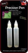 2pc Pen Clear Tip Empty 15ml Pen Bottle Nozzle Tip -Ideal for filling GEMTAC, Quilling, Craft, Glue, Glaze, Oil Bling my shoes Trademark UK00003085705