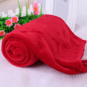 Kicode Soft Coral Fleece Throw Luxury Warm Blanket Comfy Home Sofa Bed Baby Solid