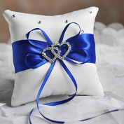Kicode Bowknot Style Wedding Ring Bearer Pillow Cushion Ceremony Unique Gift Romantic