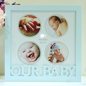 Children's growth record photo frame combination pendulum table,F