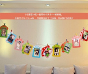 Creative hanging paper photo frame combination 13cm ,L