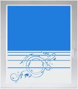 INDIGOS UG Sichtschutzfolie Glasdekorfolie Fensterfolie mit Motiv satiniert blickdicht - w343 Ranken Pflanzen Wandauskleber - individuelle Länge in 10 cm Schritten - Streifen
