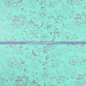Foam Rubber Arabesque Turquoise Glitter Silver Thermoformable, 40 x 60 cm