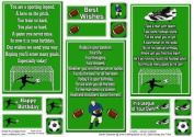 Football and Rugby Verse Toppers by Janyce Cotterill