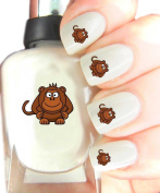 Easy to use, High Quality Nail Art Decal Stickers For Every Occasion! Ideal Christmas Present / Gift - Great Stocking Filler Monkey