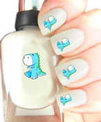 Easy to use, High Quality Nail Art Decal Stickers For Every Occasion! Ideal Christmas Present / Gift - Great Stocking Filler Blue Dino