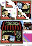 The Little Rugby Shop Fathers Day Wavy Corner Topper by Carol Clarke