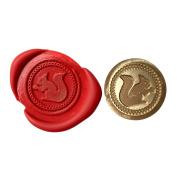 A Single SQUIRREL WITH ACORN Coin Seal XWSC106