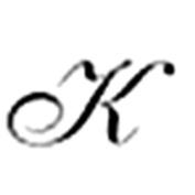 Italic Script Initial Seal - K