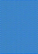 5 x A4 Light Blue Back Polka Dot Card Stock, Dot Size:- Medium - PD78